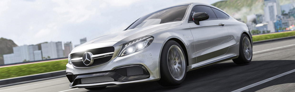 Mercedes-AMG C63 S Coupe for Forza Motorsport 6 Front and Side VIew
