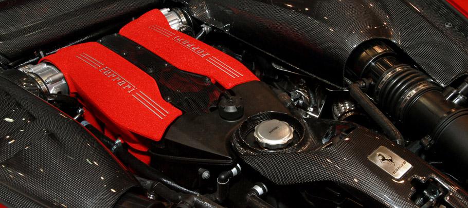 xXx Performance Ferrari 488 GTB Engine with Carbon Fiber Elements