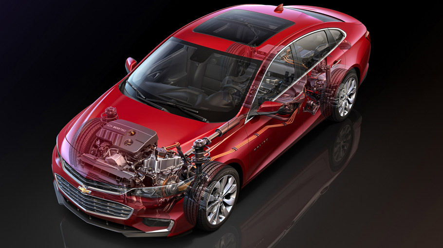 2016 Chevrolet Malibu Hybrid Viiew From Above