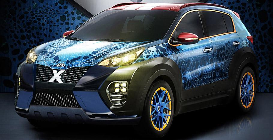 Kia Sportage X-Men Apocalypse Front and Side View