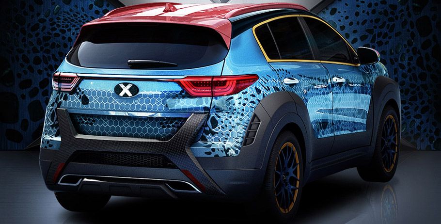 Kia Sportage X-Men Apocalypse Rear View