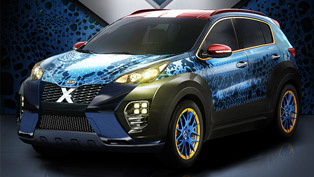 kia releases one-off sportage inspired by x-men's mystique [video]