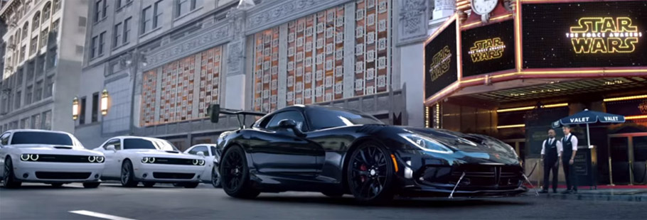 Darth Vader's Viper ACR and Stormtrooper's Challenger and Charger Ad