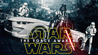 The Force Awakens with Top 5 Star Wars Themed Cars
