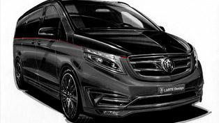 LARTE Design V-Class Black Crystal Stands for VIP Luxury