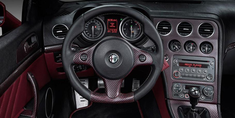 Fibra de Carbono Rosso Steering Wheel by Vilner