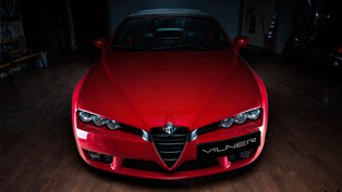 "Meet Vilner's Exclusive ""Fibra de Carbono Rosso"" Based on Alfa Romeo Spider"