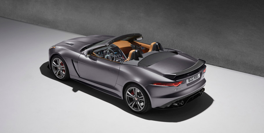 Jaguar F-TYPE SVR Convertible View From Above