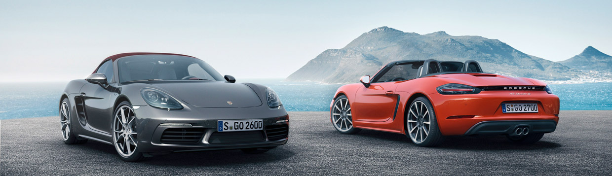 Porsche 718 Boxster and Boxster S Together