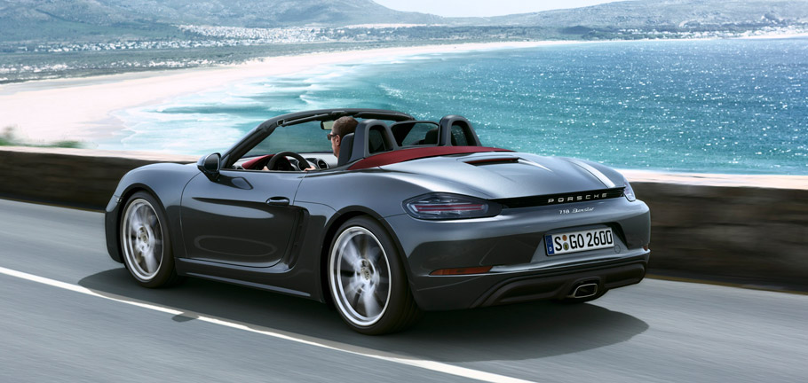2017 Porsche 718 Boxster Rear view