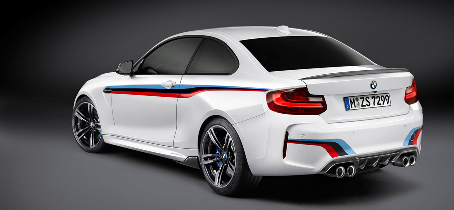 BMW M2 Coupe with M Performance Parts Rear View