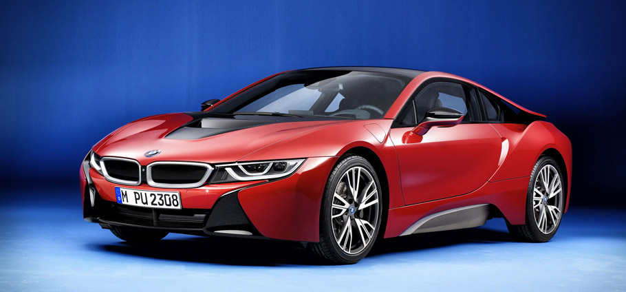 BMW i8 Protonic Red Edition Side View