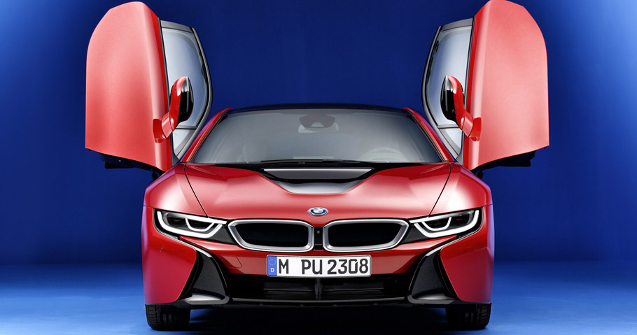 BMW i8 Protonic Red Edition Front View