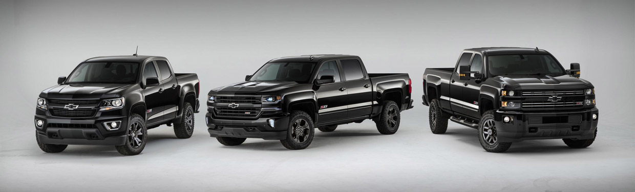 Chevrolet Silverado 1500 Z71 and Colorado Z71 Midnight Special Editions