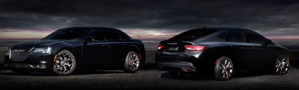 Chrysler 200S and 300S Alloy Editions Front and Rear View