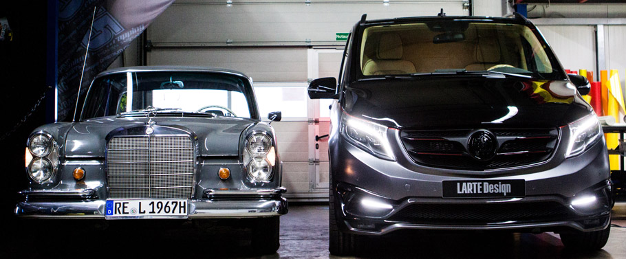 Larte Design Mercedes-Benz V-Class Black Crystal Front VIew