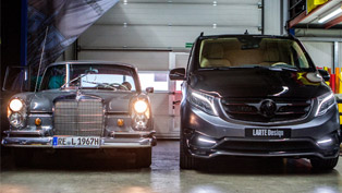 Larte Design Previews Exterior Details of Mercedes-Benz V-Class Black Crystal