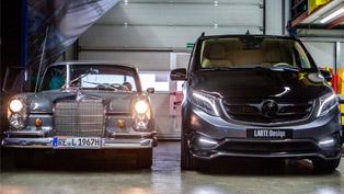 Larte Design Previews Exterior Details of Mercedes-Benz V-Class Black Crystal
