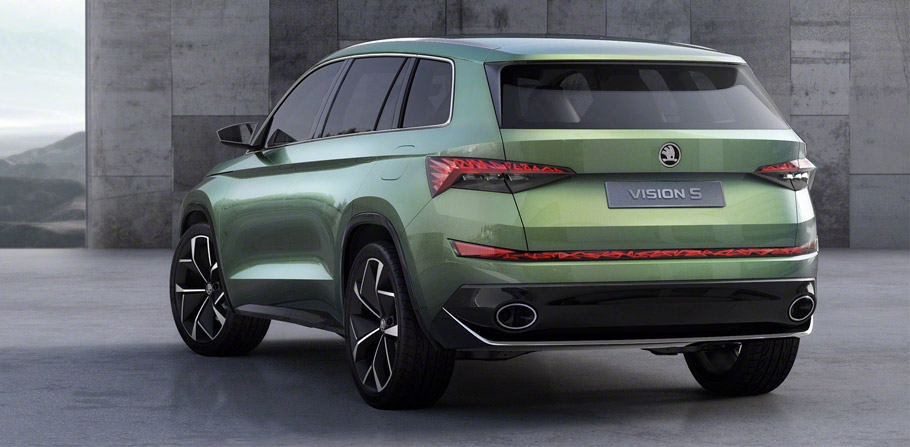Skoda VisionS Concept Rear View
