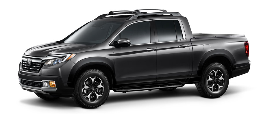 2017 Honda Ridgeline with Honda Genuine Accessories Side View