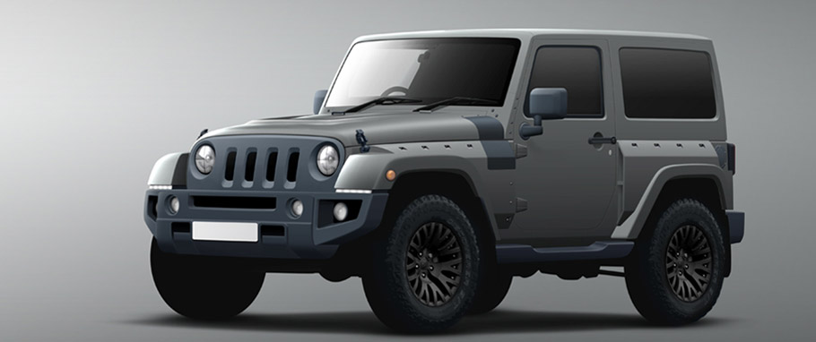 Kahn Jeep Wrangler Black Hawk Edition
