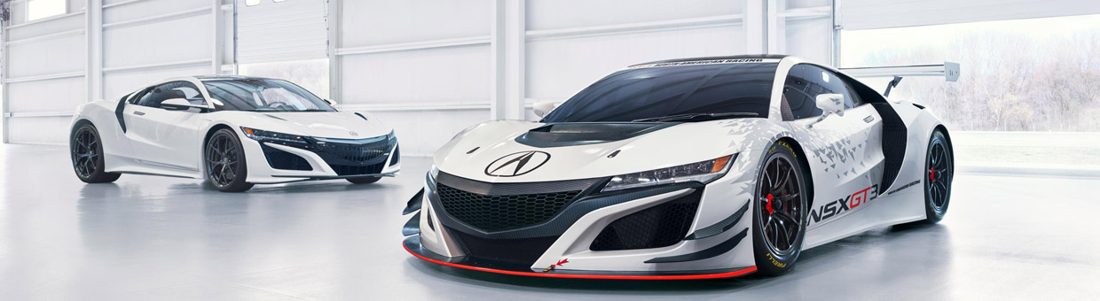 Acura NSX GT3 Race Car and Acura NSX