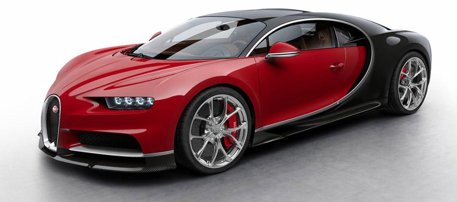 Bugatti Chiron Colorized front view