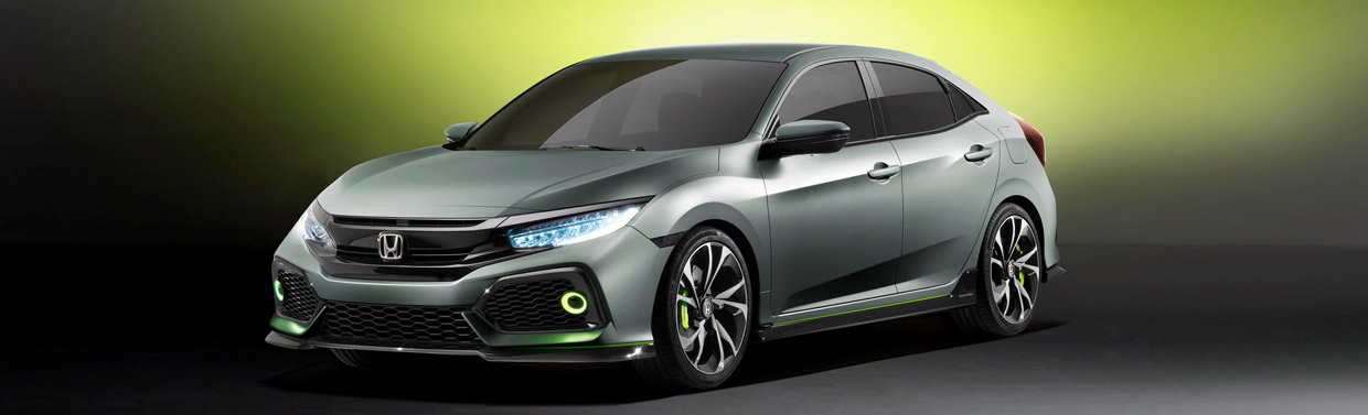 Honda Civic Hatchback Prototype Front View