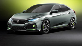 honda previews next-gen civic hatchback with geneva-bound prototype