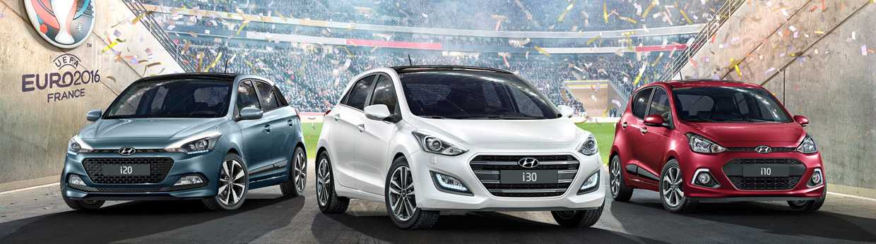 2016 Hyundai i10, i20 and i30 GO! Front View