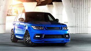 you will fall in love with kahn's range rover sport rs pace car in imperial blue