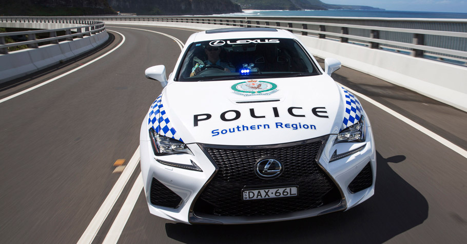 Lexus RC F NSW Police Coupe Front View