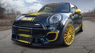 manhart racing changes the emblematic mini john cooper works into something extraordinary!
