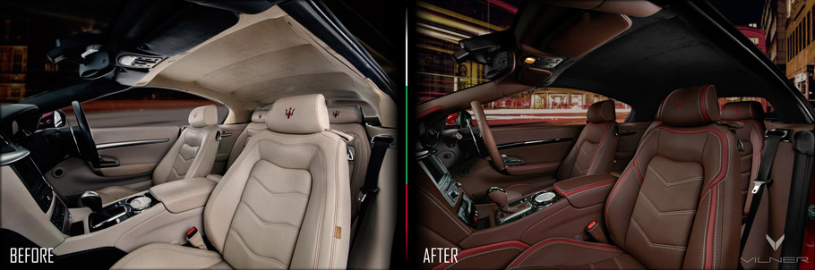 Maser GranCabrio Sport Interior Picture One: Before and After