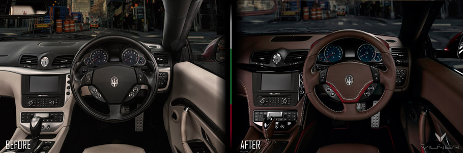 Maser GranCabrio Sport Interior Picture Two: Before and After