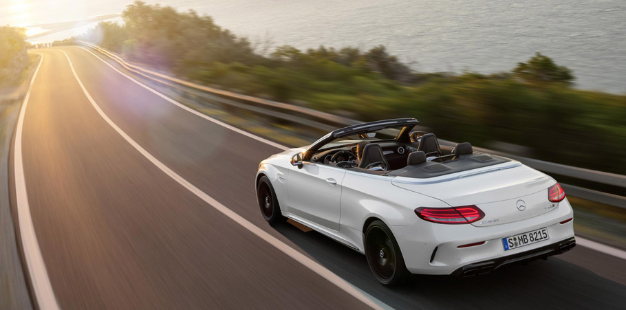 2016 Mercedes-AMG C63 Cabriolet Rear view
