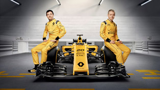 renault r.s.16 formula one car shows-off with new livery and rides the waves in australia [w/videos]