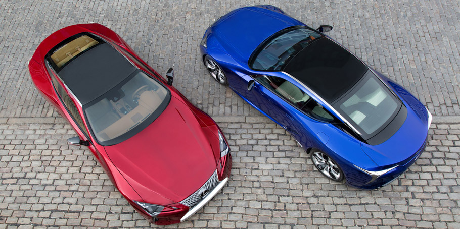 Lexus LC 500 and 500h View From Above