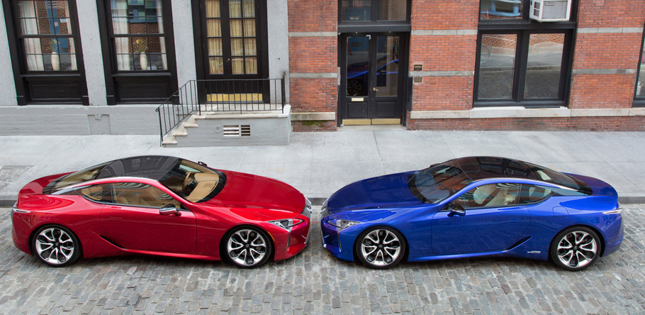 Lexus LC 500 and 500h View From the Sides