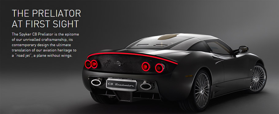 Spyker C8 Preliator Rear View