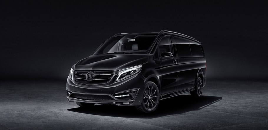 Larte Design Mercedes Benz V Class Black Crystal Front View