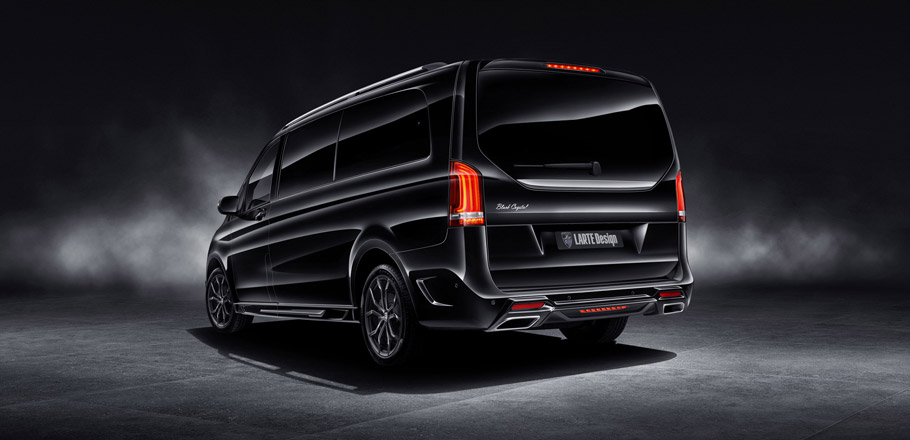 Larte Design Mercedes-Benz V-Class Black Crystal rear view