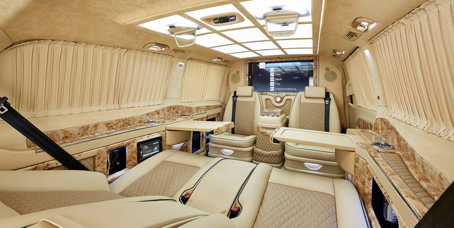 Larte Design Mercedes-Benz V-Class Black Crystal interior