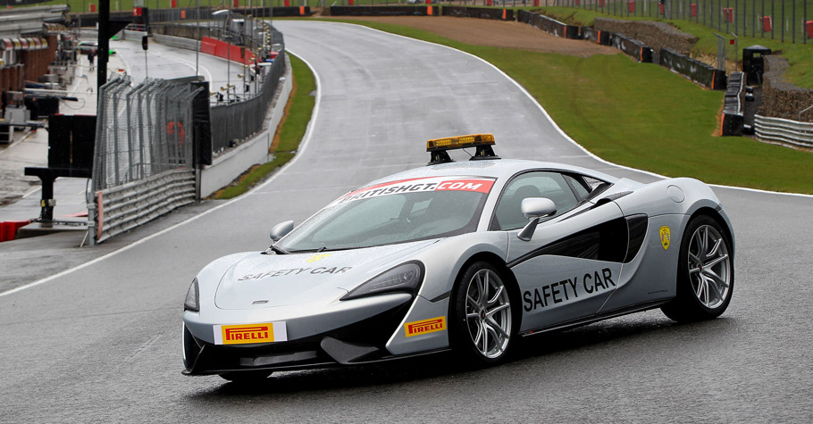 McLaren 570S Coupe Safety Car on the track