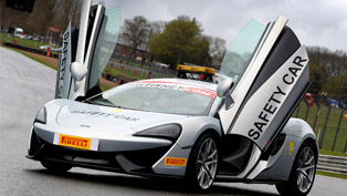 McLaren 570S Coupe Safety Car Revealed. Official Guard at the British GT Championship
