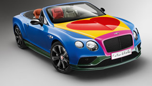 bentley team and sir peter blake raise money for charity with colors and love