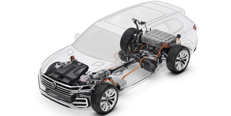 Volkswagen T-Prime Concept GTE powertrain