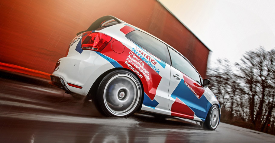 WIMMER RS Volkswagen Polo WRC Rear View
