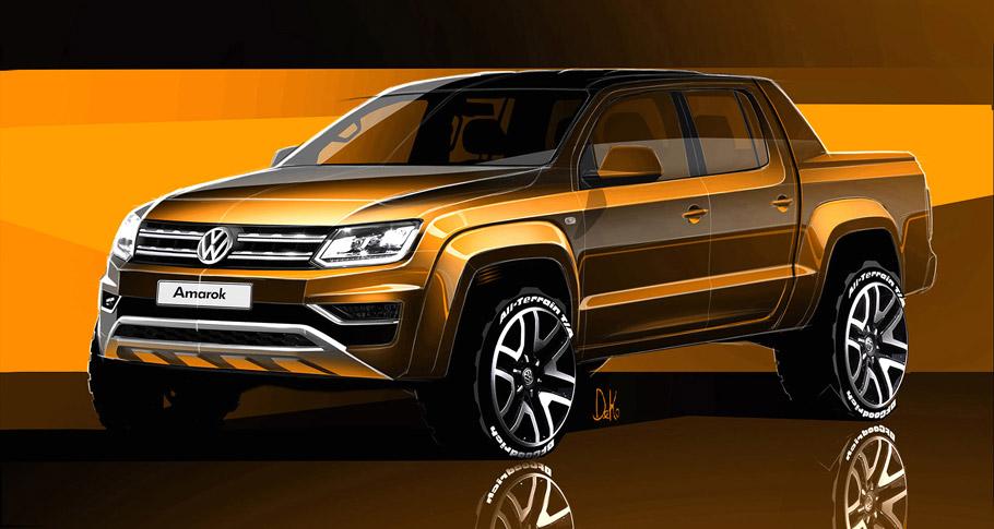 Volkswagen Amarok Sketches front view