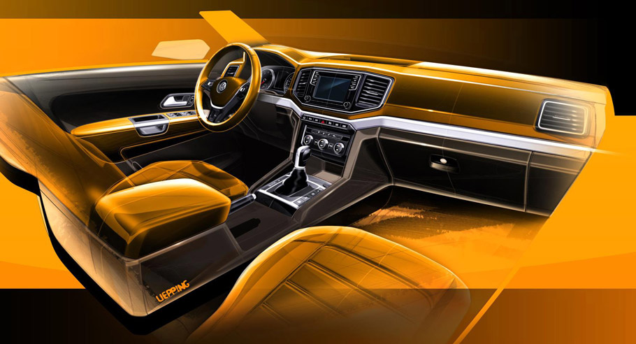Volkswagen Amarok Sketches Interior